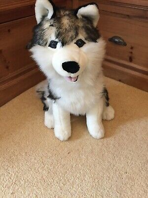 Toy Husky Dog Soft Toy 18 Inches Tall Finnish Lapland • 12£