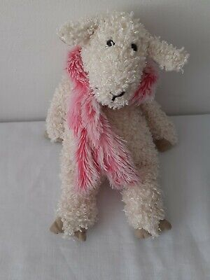 Jellycat Bunglie Junglie Sheep Soft Toy In Pink Furry Scarf • 5£