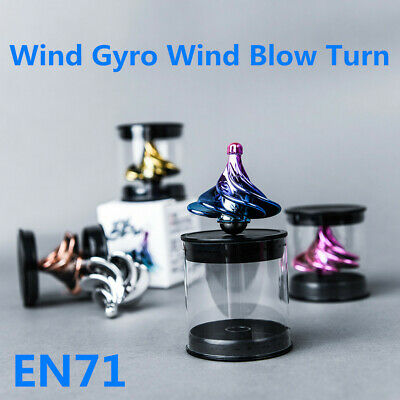 Spinning Top Wind Gyro Wind Blow Turn UK Airflow Gyro Desktop Decompression Toys • 5.59£