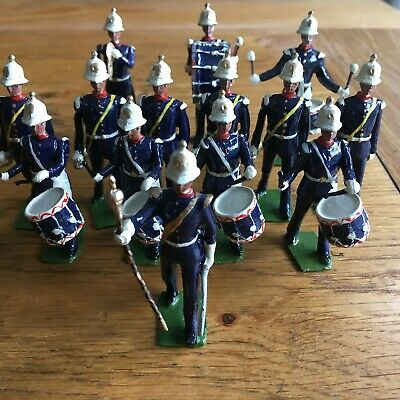 Britains Set 2115? Re-Cast Drums And Bugles Of The Royal Marines X 14 • 15£