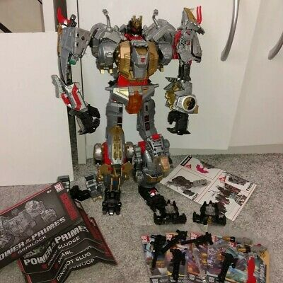 Transformers Power Of The Primes Volcanicus Dinobots With PC-23 Add On • 89.99£
