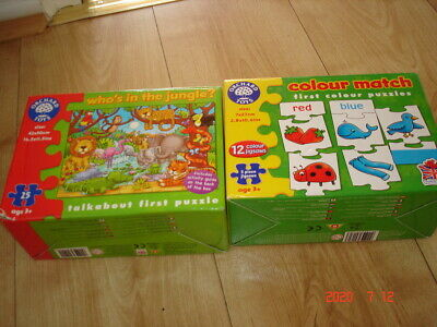 Orchard Toys Games/jigsaws X 2 Both Complete • 5.50£