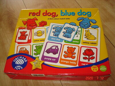 Orchard Toys  Red Dog Blue Dog  Game Complete • 4.50£