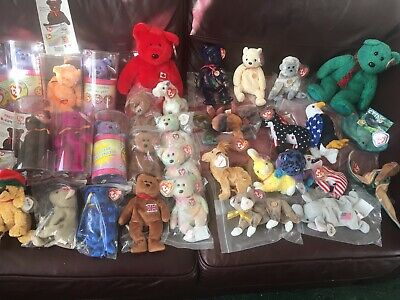 Ty Beanies Job Lot Some Rare 35 Mixed Tagged And Unplayed With !!! • 5.19£