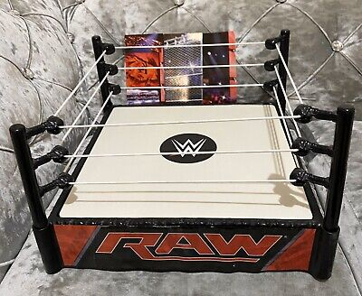 Wwe Classic Raw Spring Loaded Wrestling Ring For Figure Kid Toy Role Play Mattel • 16.96£