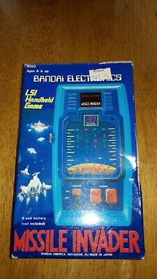 Rare Electronic Game Bandai ,missile Invader,boxed With Instructions.hand Held • 1.70£