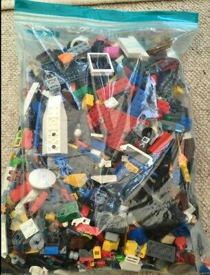 1kg Genuine Lego Bricks Mixed Bundle Of Assorted Colours And Sizes • 10£