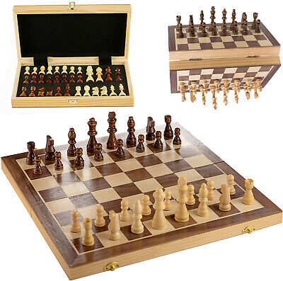 Large Wooden Magnetic Chess Set Folding Chessboard International Chess Board • 20.59£