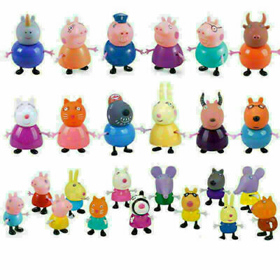 25 Pcs Peppa Pig Family&Friends Emily Rebecca Suzy Action Figures Toys Xmas Gift • 12.98£