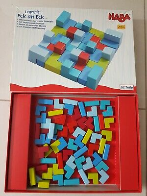 HABA 2382 Legespiel Eck An Eck, Corner To Corner Arranging Game • 25£