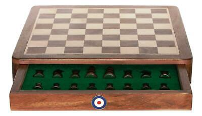 RAF Roundel Square Chess Set Wood Board Personalised 293 • 69.99£