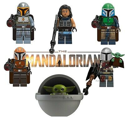 Star Wars The Mandalorian CUSTOM Lego Mini Figures Building Baby Yoda Cara Dune  • 2.99£
