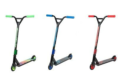 Kids Stunt Scooter Street Pro Kick Push Scooter 360 Spin Fixed Bar For 8+ Age UK • 34.99£