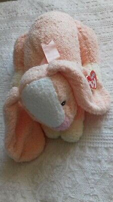Rare Ty Pillow Pals Baby Collection Honey Bunny With Tag 2000 - Rattle Inside • 13£