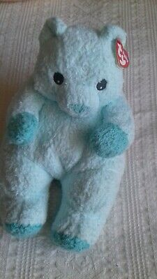 Rare Ty Pillow Pals Baby Collection Baby Blue With Tag 2000 - Rattle Inside • 13£