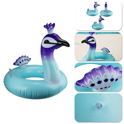 90/120cm Inflatable Pool Float Beach Swimming Lounger Peacock Shaped SwimmingToy • 4.99£