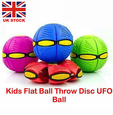 Novelty Flying UFO Flat Throw Disc Ball With Light Toy Phlat Soft Kids Outdoor • 7.99£