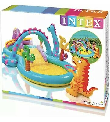 Kids Inflatable Pool Dinosaur Play Centre Outdoor Kids Paddling Water Slide • 59.99£