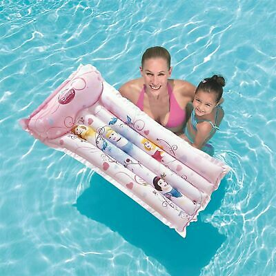 Kids Disney Princess Inflatable  Lounger Lilo Float Swimming Pool Air Bed Mat • 6.99£