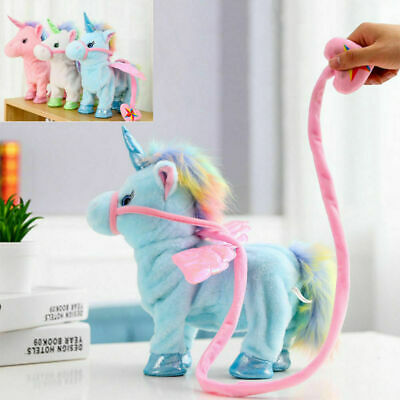 Walking Talking Unicorn Plush Toy Singing Songs Kids Fun **UK FAST POST** • 15.99£
