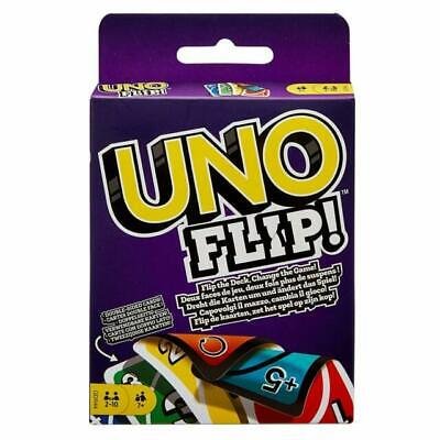 UNO FLIP CARD GAME Children Adult Friend Great Family Fun Travel Party UK Seller • 3.99£