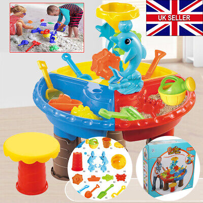 23X Sand And Water Table Sandpit Indoor Outdoor Beach Kids Children Play Toy Set • 10.94£