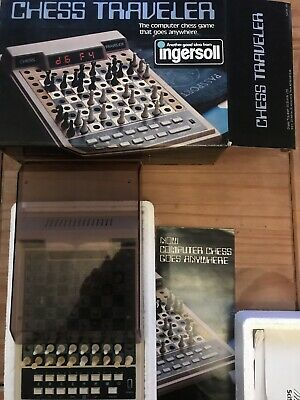Ingersoll  CHESS TRAVELER COMPUTER CHESS GAME - 100% Complete And Working • 40£
