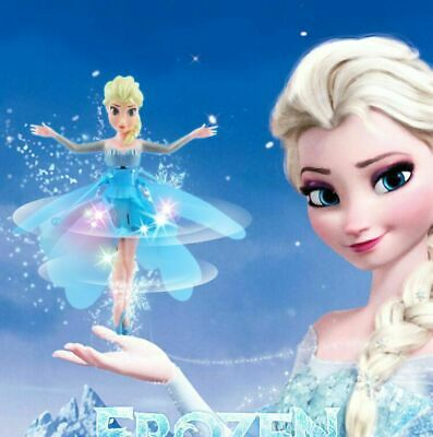UK Frozen Princess Flying Fairy Magic Infrared Induction Control Figure Toy Gift • 6.86£
