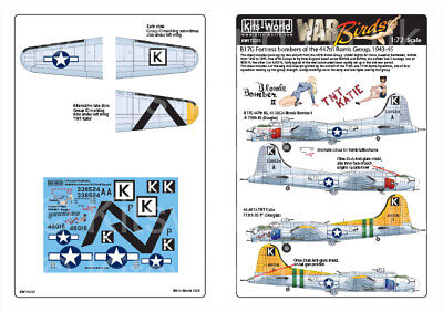 Kits-World Decals 1/72 Boeing B-17G Flying Fortress # 72231 • 8.90£