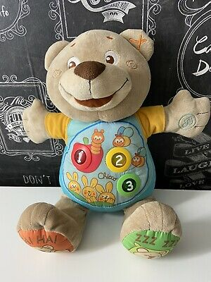 Chicco Teddy Count With Me Bilingual (French/English) Musical Soft Toy, 21.5 Cm • 8.99£
