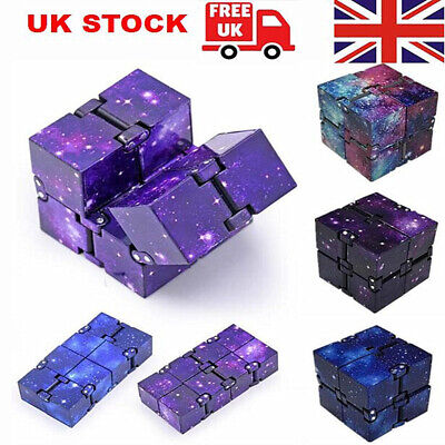 Sensory Infinity Cube Stress Fidget Toys For Autism Anxiety Relief Kids Adult UK • 3.39£