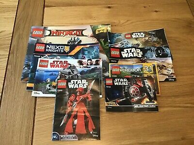 LEGO Instruction Manuals X8 • 3£