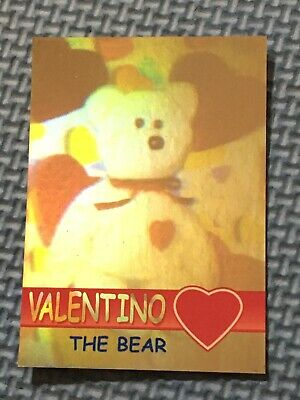 Ty Beanie Babies Trading Card Valentino The Bear Hologram, Series 2 • 19.99£
