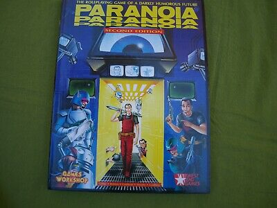 PARANOIA RPG • Games Workshop, 2nd Ed 1986. Hardcover. Excellent Condition. • 20£