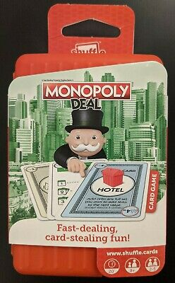 Rare - Monopoly Deal Shuffle - Quick Play Travel Card Game - Brand New & Sealed • 24.99£