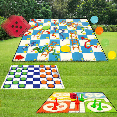 Draughts / Snakes And Ladders / Ludo / Drafts Giant Garden Games Sets Outdoor • 7.99£