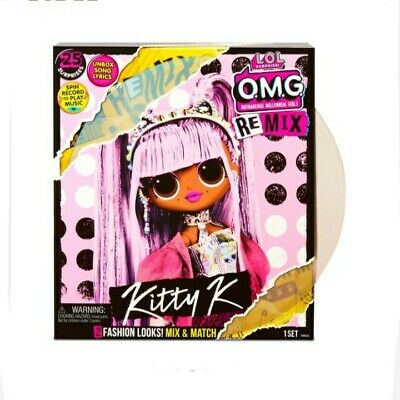 LOL Surprise O.M.G. Remix Kitty K Fashion Doll In Hand • 55£