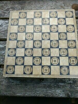 Vintage Oriental Chess Set & Box Including Carved Marble Board • 34.99£