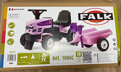 Falk Pink Tractor And Trailer Ride On With Accessories BRAND NEW! • 29.99£