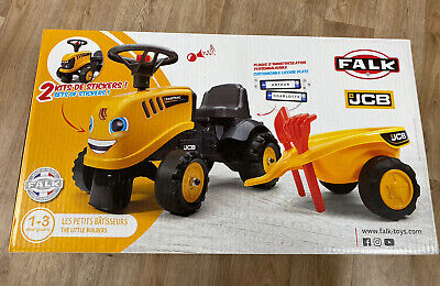 JCB Foot To Floor Ride On Tractor And Trailer BRAND NEW IN BOX • 29.99£