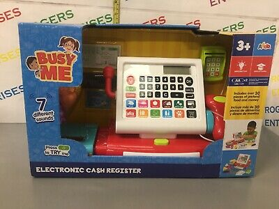 Busy Me, Electronic Cash Register, With 30 Pcs - NEW, Creased • 23.99£