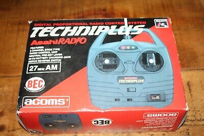ACOMS TECHNIPLUS 27 MHz 2CH TRANSMITTER BOXED • 13.43£