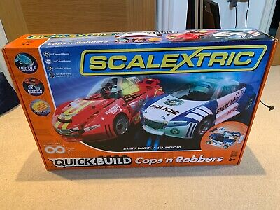 Scalextric Quick Build Cops 'n' Robbers C1323 Set - New & Boxed • 16£