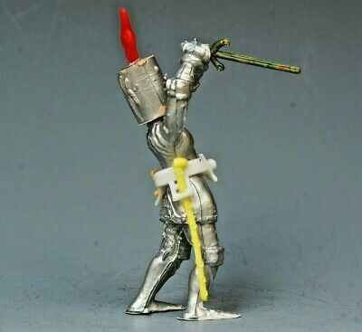 Vintage Plastic 54mm: 1st Series 'Swoppet' Knight #3 ~ Rare In This Condition • 19.99£
