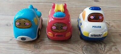 VTech Toot Drivers 3 Car Pack Vehicles (Fire Engine, Police Car, Aeroplane) • 2.20£
