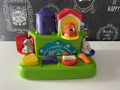 """ELC Pop-up House """" Who's Inside ? Surprise Activity Baby Toy • 9.90£"""