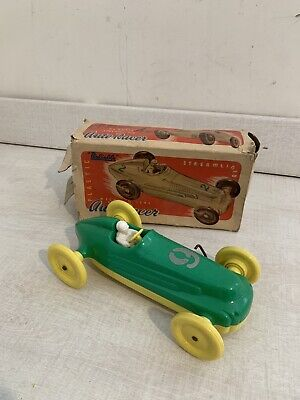 Vintage Reliable Ltd Canada Boxed Streamlined Auto Racer Clockwork • 3.99£