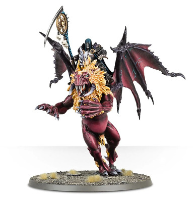 Warhammer Age Of Sigmar Chaos Sorcerer / Lord On Manticore - New On Sprue • 28£