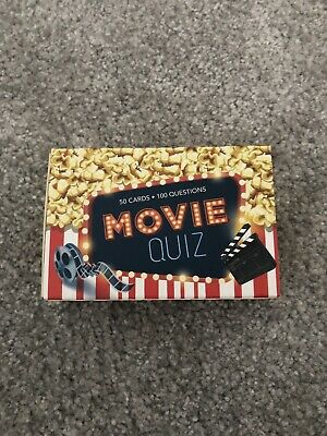 Movie Quiz Game Cards Family Fun Trivia Questions Answers New Boxed Gift Xmas • 3.99£