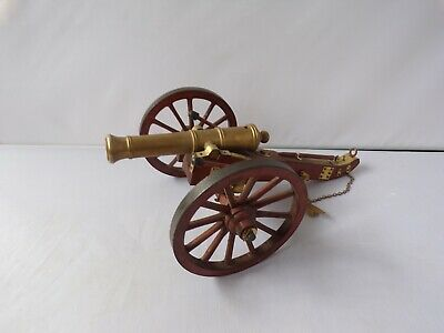 Napoleonic American Civil War Brass And Wood Cannon Model  • 59.99£